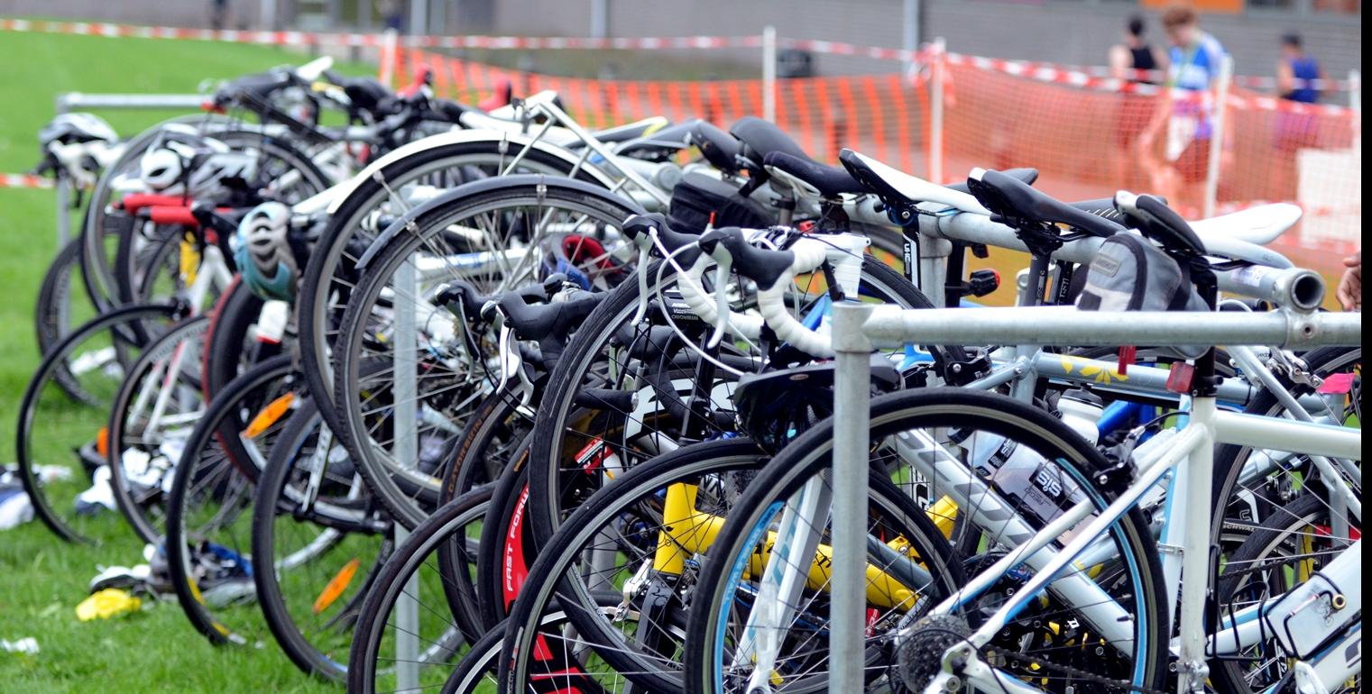 Bike racking Willesden Triathlon 2014